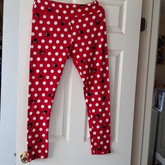 a5e8a18b37e911 LuLaRoe Pants | Tc Disney Minnie Mouse Polka Dot Leggings | Poshmark